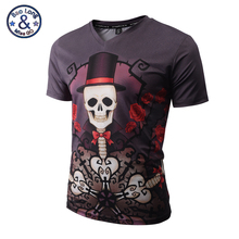 3D T shirt Men Women Hip Hop T-shirts Funny Print Skull Magician V-neck Casual Fitness Tee Shirt Tops Brand Clothing 3XL