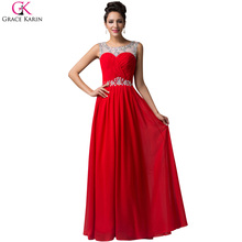Grace Karin Formal Evening Dress Long 2017 Floor Length Women Red Carpet Celebrity Dresses Bandage Ball Party Evening Gowns 6115