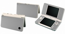Silver Carbon Fiber Vinyl Skin Sticker Protector for Nintendo DSI XL LL for NDSI XL LL skins Stickers