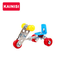 JIAJIALE Metal Model Building Kits Puzzle Tricycle Enlighten Education Assemblage DIY Toys VS 3d metal model kits(China)