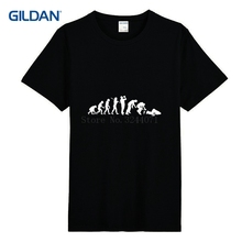 T-Shirt For Men Street Evolution Of Drunk Mens T Shirt Fashion 2017 Print Cotton Tshirt Large Tops Casuals Gildan