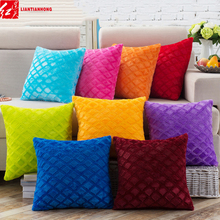 "17"" Square 43cm Solid Pure Color Short Plush Soft Comfortable Home Decor Sofa Waist Cushions included Filling Core Throw Pillows"