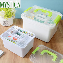 MYSTICA Large Family Home Medicine Box Cabinet Health Care Plastic Drug First Aid Kit Organizer Box Storage Boxes Chest Drawers