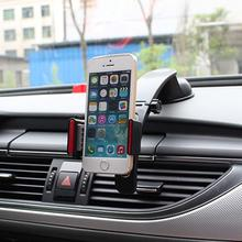 Genuine Car Phone Holder GPS Auto Dashboard Windshield Mobile Cell Phone Retractable Mount Stand Black Support Cellular Phone(China)