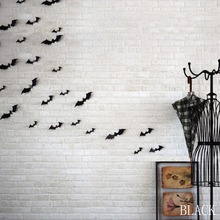 DIY Sticker Pieces Black Attractive 3D Bat Sticker Removable Wall Sticker Halloween Festival Home Decoration(China)