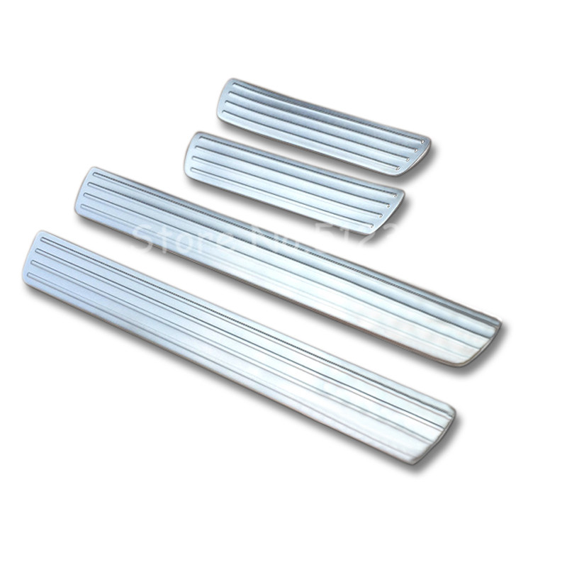 4pcs/set Stainless InteriorAccessories Door Sill Scuff Plate Cover Moulding Cae Styling For Mercedes Benz GLE W166 2015 2016(China (Mainland))