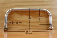 10 inch metal frame aluminous tubular internal hinge Bag frame Bag handle Z25