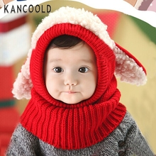 Garment 2017 NEW Fashion Lovely Winter Baby Kids Girls Boys Warm Woolen Coif Hood Scarf Caps Hats 0 AU9