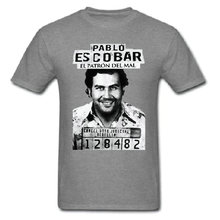 Gangster Pablo Escobar Colombian Drug Weed Scareface Luciano Money Capon O-Neck Casual T-Shirt(China)