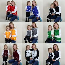 The autumn and winter of INS explosion and the wind a pullover cardigan baseball false children children mother daughter