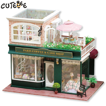 Doll house furniture miniatura diy doll houses miniature dollhouse wooden handmade toys for children birthday gift  A-028