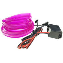1M 2M 3M 5M 8mm Sewing Edge Neon Light Dance Party Car Decor Light Flexible EL Wire Rope Tube LED Strip Lamp With DC12V Drive