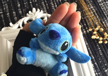 Kawaii Blue Lilo Stitch 7CM Approx. Plush Stuffed Toy Doll , Uses as hair tie toys , Plush Stuffed doll for girls