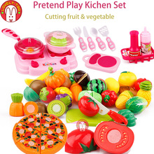 Lovely Too 31pcs Fruit Cutting Toys kid's Kitchen Cooking Play Food Seeds Of Vegetables Pretend Tiny Toy For Girls