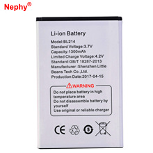 2017 Original Nephy Battery BL214 For Lenovo A316I A360E 1300mAh Mobile Cell Phone Batteries Rechargeable Li-ion Accumulator