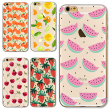 Soft TPU Cover For Apple iPhone 4 4S 5 5S SE 5C 6 6S 6Plus 6SPlus 7 7Plus Cases Cool Refreshing Juicy Glittering Fruit Sweet