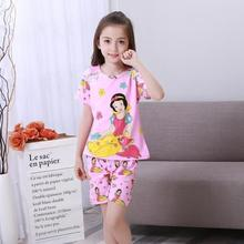 New Listing 2017 Children Clothing Summer nightwe Girls Baby Pajamas Cotton Princess Nightgown Kids Home Cltohing Girl Sleepwear