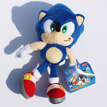 "Free Shipping 9""23cm Blue Sonic the Hedgehog Stuffed Animals Plush Toys Soft Doll For Children Retail 1pcs(China)"