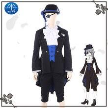 Anime negro mayordomo Ciel Phantomhive Cosplay traje hombres fiesta de  cumpleaños uniforme trajes de Halloween para los hombres . e4e88e67be30