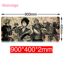 Fashion Large Mouse Pad with cartoon One PIECE Pattern Practical Cool Mouse mat 900*400mm Locking Edge Keyboard Table mouse pad
