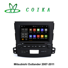 8 Android 5.1 Car GPS Radio For Mitsubishi Outlander 2007-2011 RDS BT Phonebook WIFI 3G Google Steering Wheel Control 3D