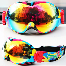 FEIYU Ski Goggles Double Layers UV400 90 Fold Anti-fog Ski Mask Skiing Glasses Men Women Snowmobile Kids Snowboard Goggles Adult(China)