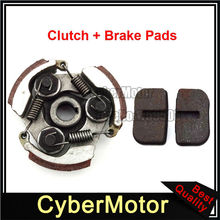 Cluch Pad + Brake Caliper Pads For 47cc 49cc 2 Stroke Engine Pocket Bike Mini Moto Dirt Kids ATV Quad 4 Wheeler(China)