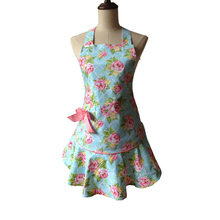Jessie Steele Blue Rose Floral Women Retro Kitchen Apron Avental de Cozinha Divertido Tablier Cuisine Pinafore Apron