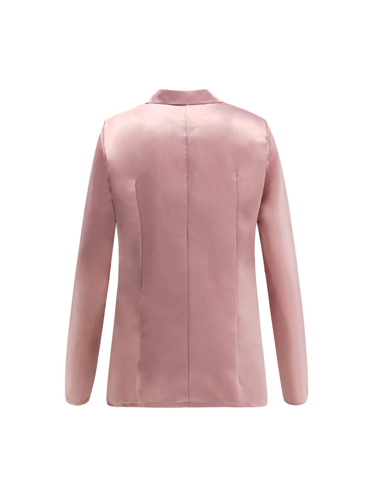Solide Oberbekleidung Arbeitskleidung Feminino Strickjacke Büro Blazer Frauen Mode Blazer Tasten OL Business Anzüge Outfit Winer Top M0371