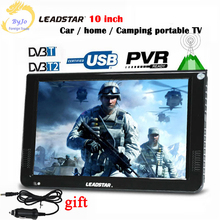 LEADSTAR D10 Portable digital TV player 10 Inch DVBT2 DVBT Analog all in one Mini tv led display Support record hd TV program