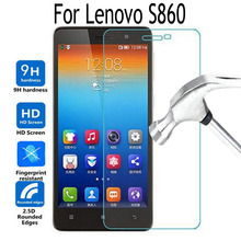 Tempered Glass Screen Protector Cover For Lenovo S860 s 860 Ultra-Thin 9H Moblie Phon Protective film Case Anti-Explosion(China)