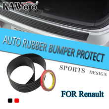 KAWOO For Renault Scenic 3 Megane 2 Fluence Modus Master Rubber Rear Guard Bumper Protect Trim Cover Sill Mat Pad Car Styling