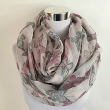 New Fashion Butterfly Print Soft Long Scarf viscose women Scarves Neck Wrap Shawl Stole Spring Autumn infinity Scarves for Women(China)