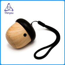 Thinyou Wooden Bluetooth Speaker Cute Nut Shape Portable wireless Mini Speakers Unique Design Outdoor Loudspeaker subwoofer(China)