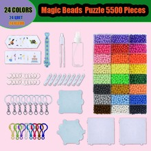 Magic Aqua Beads kits Water Sticky Perler Beados Pegboard Set Fuse Bead Jigsaw Puzzle education toys for kids best gift(China)
