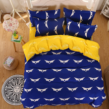 New Bedding Set Soft Polyester Bat Design Bed Sheets Duvet Cover Flat Bedspread Sets Home Textile Juegos de Sabanas Wholesale