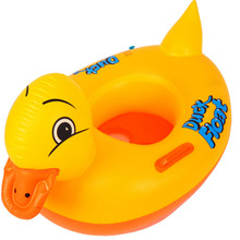 2 pcs Inflatable Pool Inflatable Toys Cartoon Inflatable Animal yellow duck Toy Swimming Ring Seat Float Boat Children bath Toy