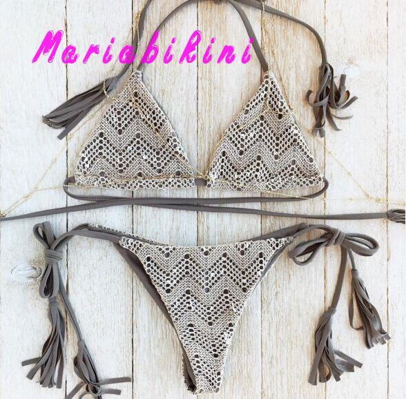 Traje De Bano Mujer Strappy Lace Bralette Hollow Out Micro Sexy Bikini Bathing Suit Women Biquinis Push Up Tankini Feminino 2016<br><br>Aliexpress