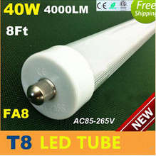 15pcs/lot LED tube T8 lamp 40W 2400mm Replace the 80w fluorescent lamp tube compatible with inductive ballast remove starter