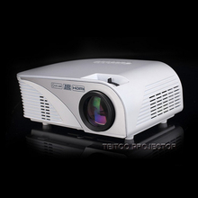Portable 2200 Lumens 800*480 White/Black LED Video Projector Support HD 1080P for Cinema Home Theater Business Office Display