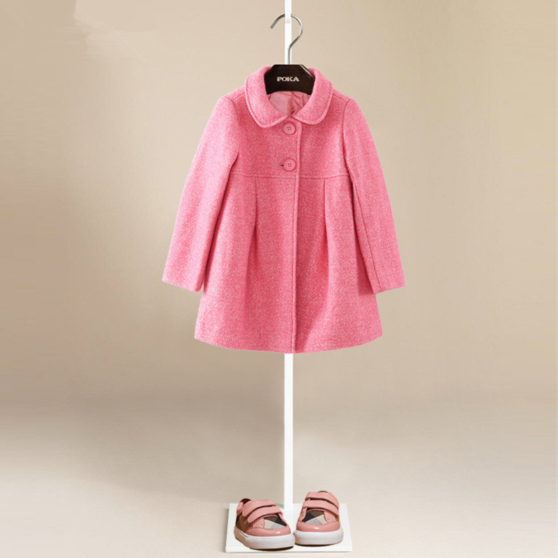 YNB High quality children winter clothes  wool coat kids girls pink keep warm clothes childrens princess clothes for girls<br><br>Aliexpress