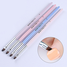 1Pc BORN PRETTY UV Gel Brush Round Handle Brush Liner Nail Cuticle Cleaning Tools Powder Dust Clean Pen Painting Draw Manicure(China)