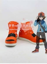 Pokemon   Poketto Monsuta  Ash Ketchum  Cosplay Shoes Boots Custom-Made