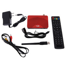 Mini Size Digital 1080P DVB-S2 Satellite FTA Receiver IKS TV BOX Cccam Internet Power Vu PVR Record EPG + 5370 USB Wifi