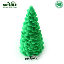 Nicole LZ0005 Flexible Easy Unmold 3D Christmas Tree Decoration Silicone Candle Molds Resin,Clay Crafts Moulds