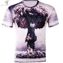 Men's Fashion 3D animal creative T-shirt Light/lion / lizard / water droplet 3D printed Regular sleeve shirt Offer free shipping