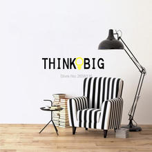 Think Big Quotes Wall Sticker Creative Lamp Lettering Vinyl Decal for Home Decoration