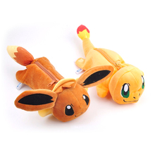 Cute Plush Pencil Cases Kawaii Animal Pikachu Kids School PencilCase Zipper Pencil Bag Large Capacity Makeup Pen Case Stationery(China)