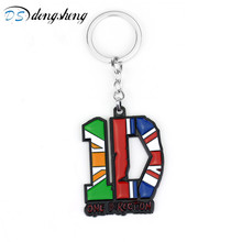 dongsheng Music Band keychains One Direction Keyrings Alloy Metal Key Holder Cosplay Accessories Chaveiro Llaveros for Fans-10