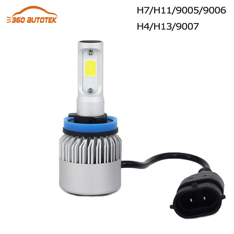 2Pcs Led H4 Super Bright White Fog Replacement Halogen Bulb 72W 6500K 8000LM Car Head Lamp car styling light source parking<br><br>Aliexpress